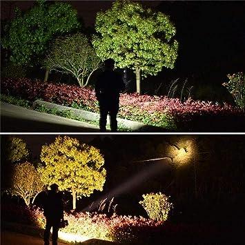 Linterna LED exterior impermeable doble cabeza 100000 lúmenes 40W ...