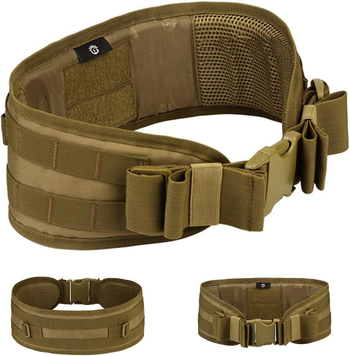 Selighting Cinturón de Utilidad Molle Táctica Militar de Nylón Cintura de Protección