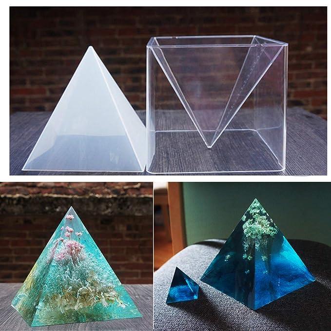 Super Pirámide Silicona Molde para Resina Molde de Joyería DIY + Marco Plástico: Amazon.es: Hogar
