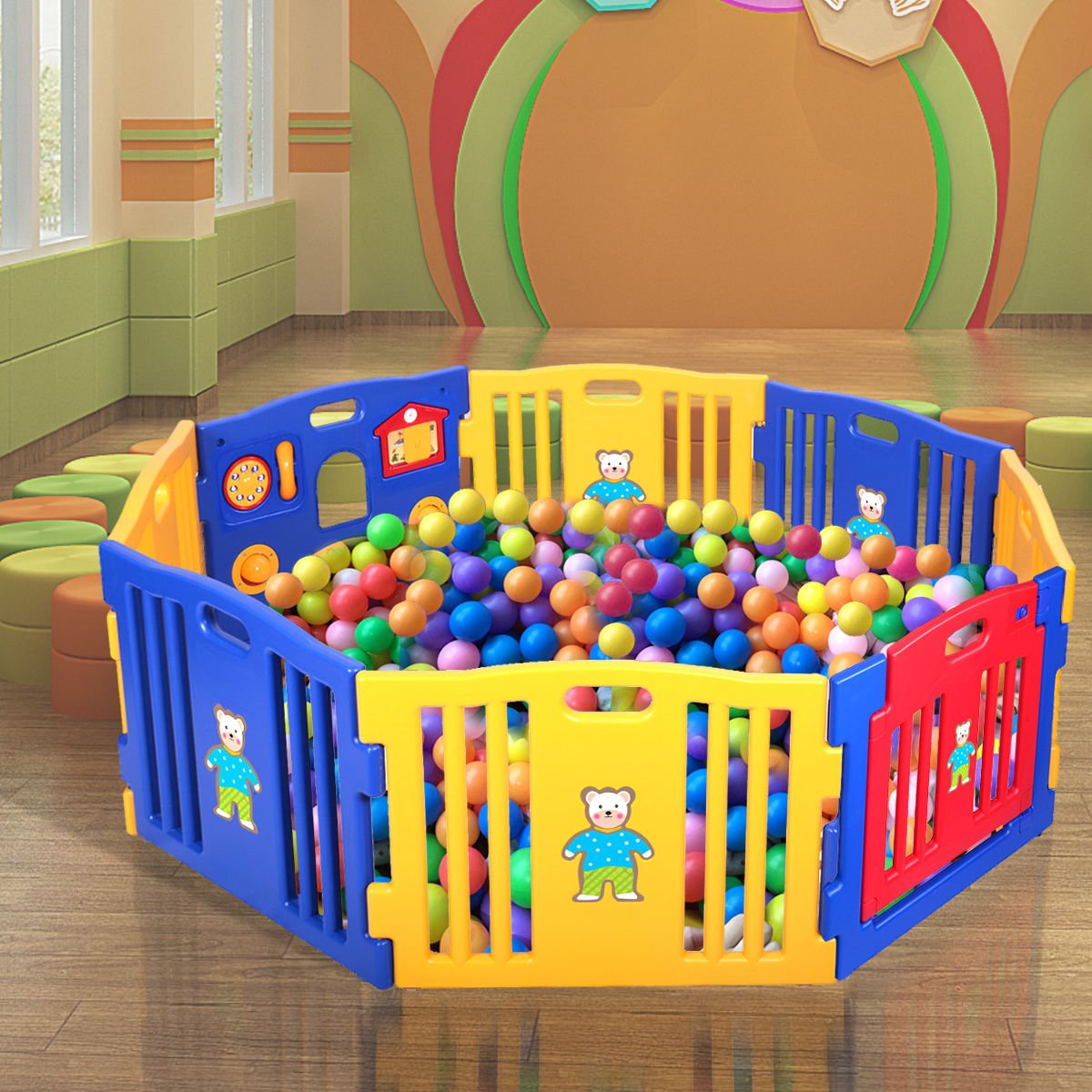 New 8 Panel Safety Play Center Baby Playpen Kids Yard Home Indoor Outdoor Pen by Eade shop (Image #3)