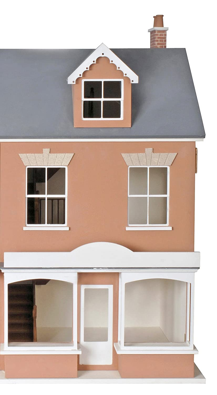 Melody Jane Dolls Houses 1:12 Escala Welsh Terraza Casa De Muñecas Tienda Plano Paquete Sin Pintar MDF Madera Kit