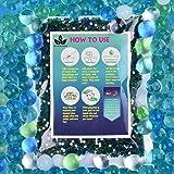 AINOLWAY Water Beads (Half Pound) for Ocean Explorers' Tactile Sensory Experience - 5 Colors Growing Crystal Bead Ocean Explo