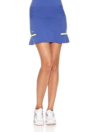 Naffta Falda Short Tenis/Padel Azul Noche/Amarillo Flúor XL ...