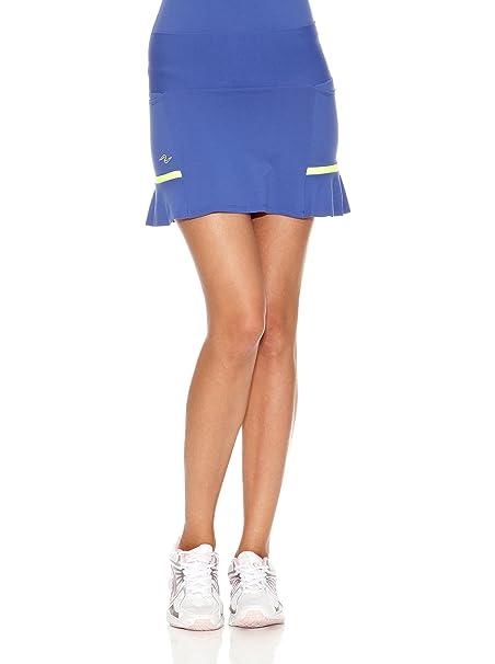 Naffta Falda Short Tenis/Padel Azul Noche/Amarillo Flúor XL: Amazon.es: Ropa y accesorios