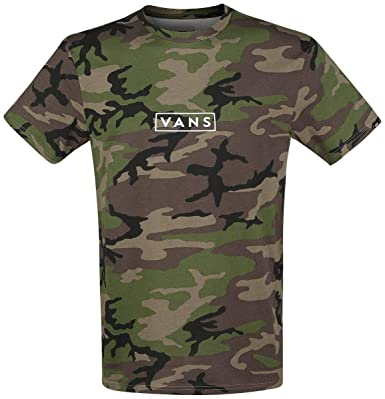 33c5f2d9a3 Vans Easy Box T-Shirt Camouflage  Amazon.co.uk  Clothing