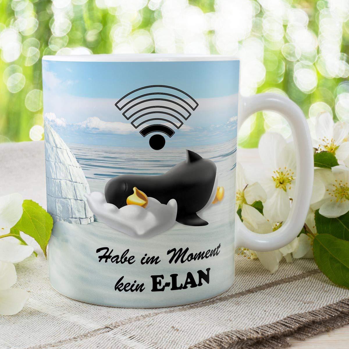 Geschenk Tasse Pinguin mit Spruch lustig Kein Elan Geburtstagsgeschenk f/ür Arbeit B/üro Frauen Freundin Kollegin Pinguinliebhaber