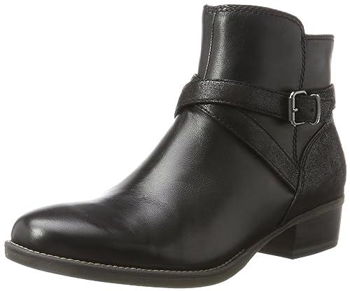 Tamaris Stiefeletten schwarz Leder 37