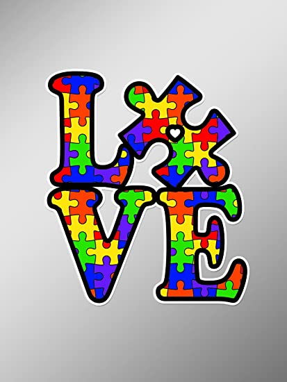9be70cabc63 Autism Love Awareness Puzzle Piece Vinyl Cut Decal Sticker | Cars Trucks  Vans Walls Laptop| 5 X 5 in Decal | KCD436