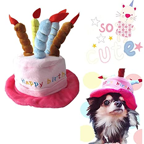 Buy Universal Dog Birthday Hats Gift With Cake And Candles For Puppy Small Cats Dogs Pink Online At Low Prices In India