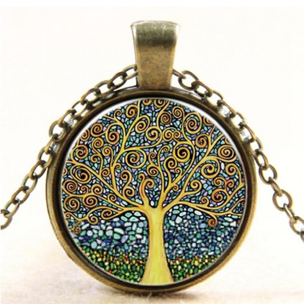 START Women Fantasy Nebula Image Design Long Chain Necklace