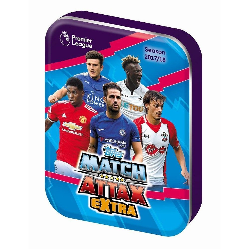 EPL Match Attax Extra 2017/18 Mini Tin. Tarjetas de fútbol ...