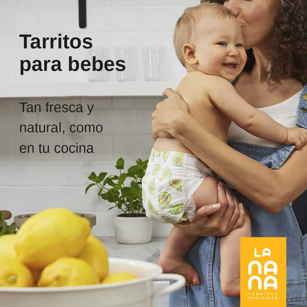 Pack de 6 tarritos ecol/ógicos para bebes de fruta y verdura de 190 g LANANA