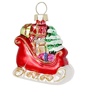 Amazon De Sikora Christbaumschmuck Glas Ornament Nikolaus