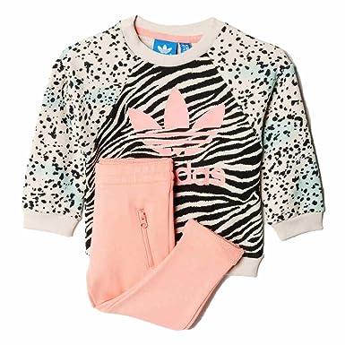 e8dbc5a654851 adidas YWF Crew Survêtement pour Enfant 104 cm Multicolor Ray Pink ...