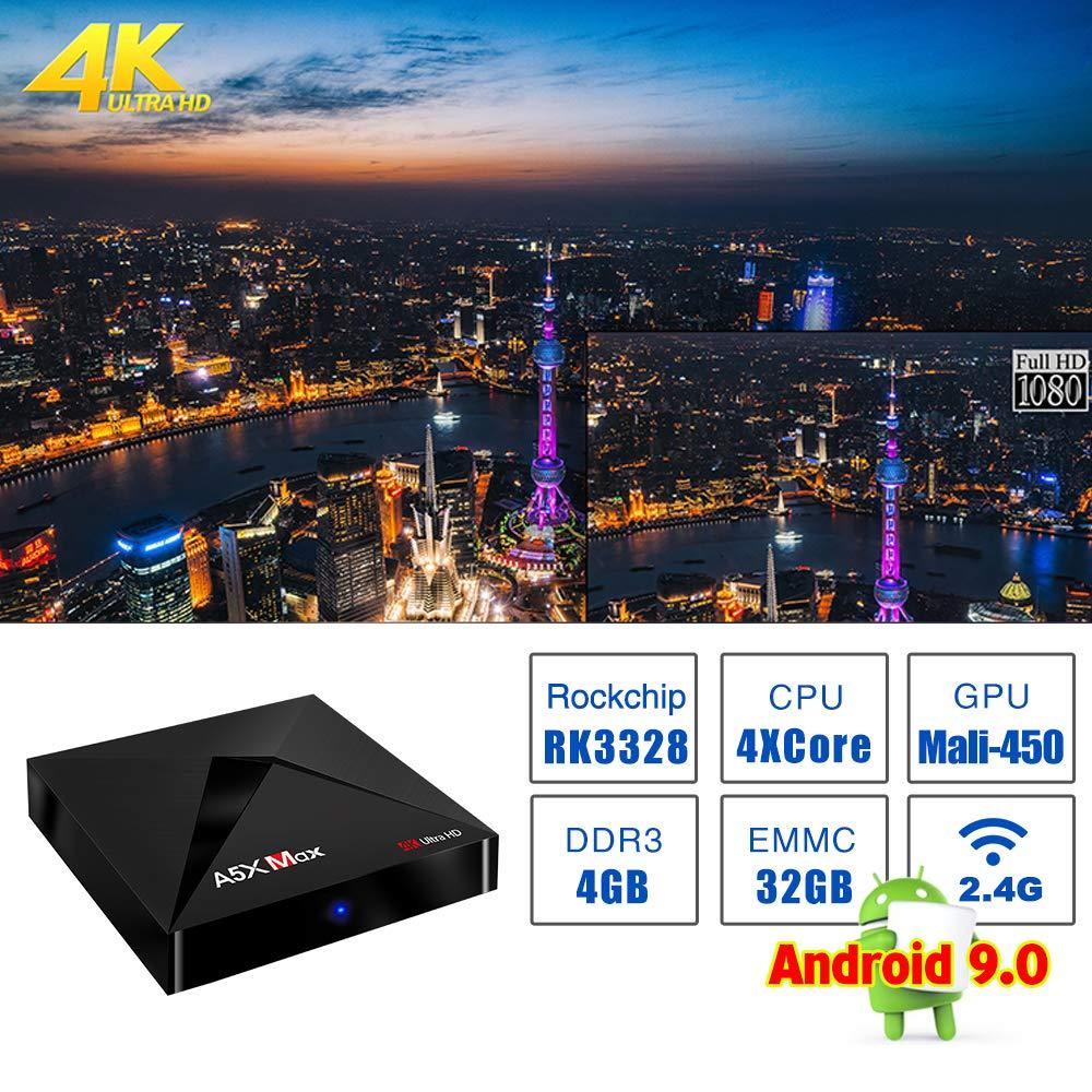 Android 9.0 TV Box SAMMIX A5X MAX RK3328 4GB+32GB Quad Cortex-A53 ...