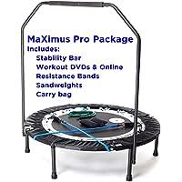 MaXimus Pro opvouwbare trampoline, nr. 1 mini-trampoline voor binnen, met draagstang voor volwassenen, beste…