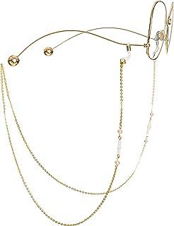 eaf5baaadd3f50 Mini Tree Brillenketten für Lesebrillen Gold Perlen Brillenband Damen  Lesebrille Brille Kette Sonnebrillen Band Lesebrillen Kette