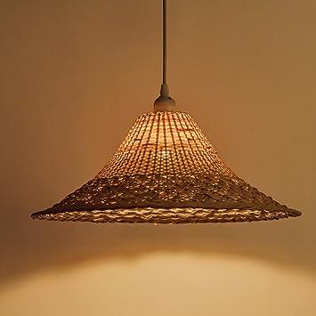 RAING Sombrero de bambú Sombrero de paja Lámpara de sombras ...