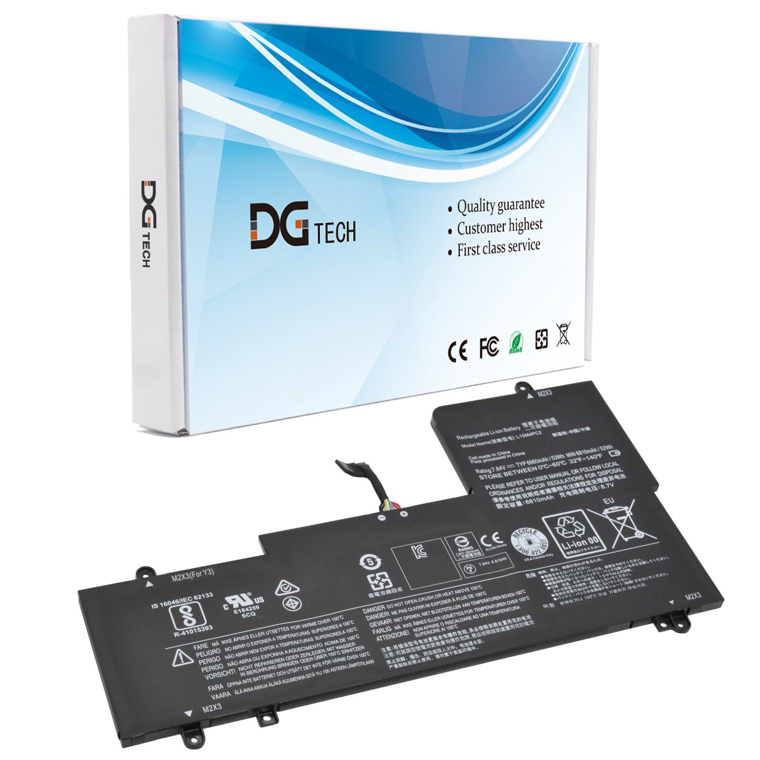 Amazon.com: DGTECH L15M4PC2 L15L4PC2 Laptop Battery ...