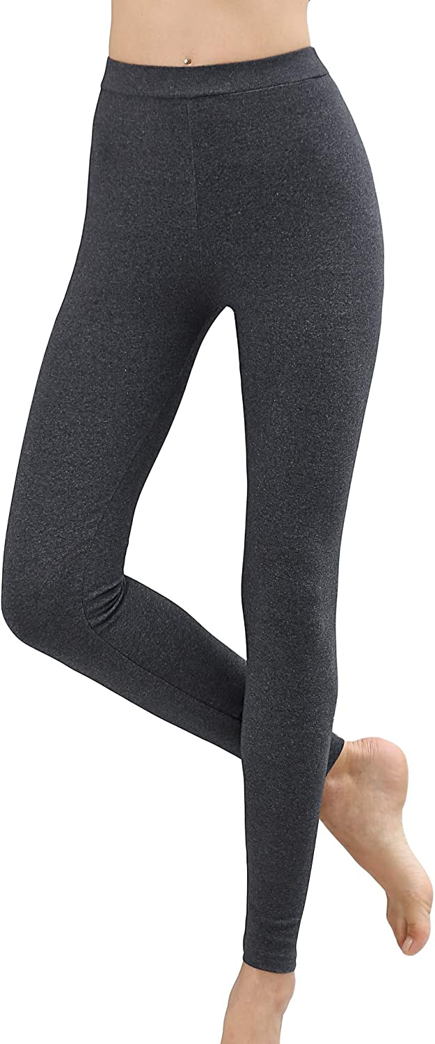 COLORFULLEAF Women s 95/% Cotton High Waisted Leggings Stretch Workout /& Everyday Use Pants