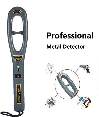 Hand Held Metal Detector Audio Led And Vibration Alert Ergonomic Design Energy