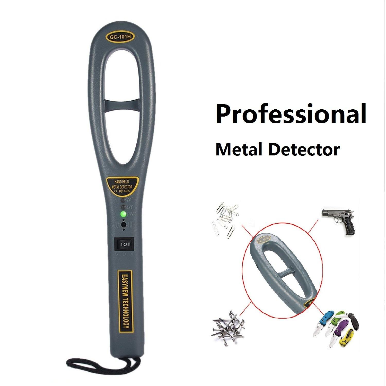 Teepao - Detector de metales de alta resistencia profesional con sonda de detección de metal de mano para buscador de tesoros portátil, sensibilidad del ...
