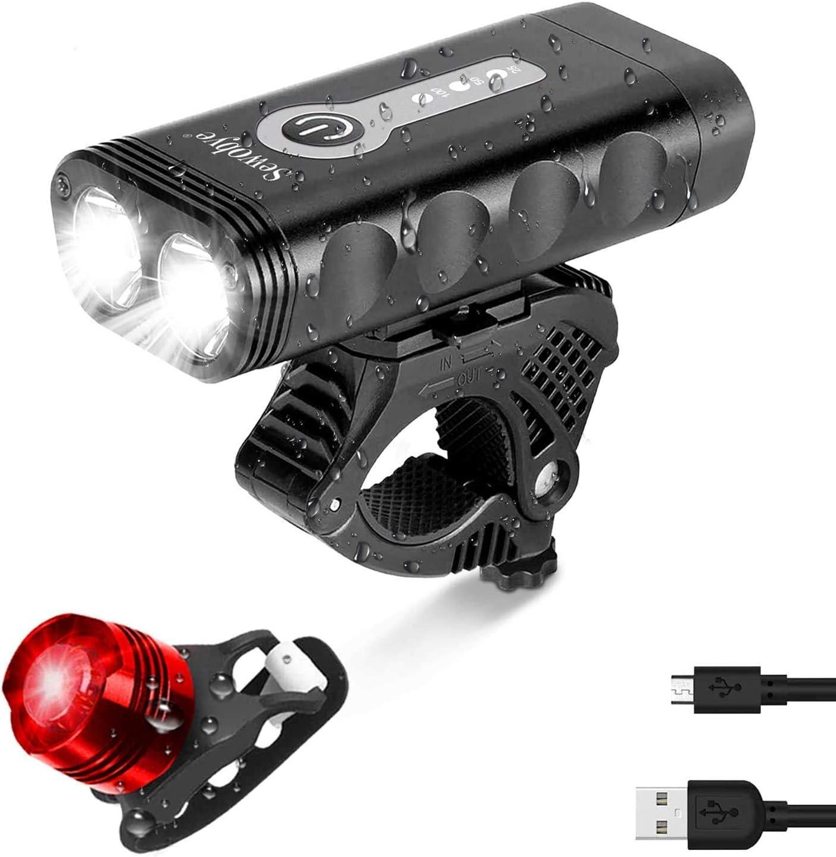 SEWOBYE Hochleistungs LED Fahrradlicht mit 2400 Lumen