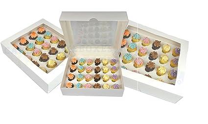 CBT Premium Mini Cupcake Caja para 24 Cupcakes con Ventana y Separador (Diez Unidades)