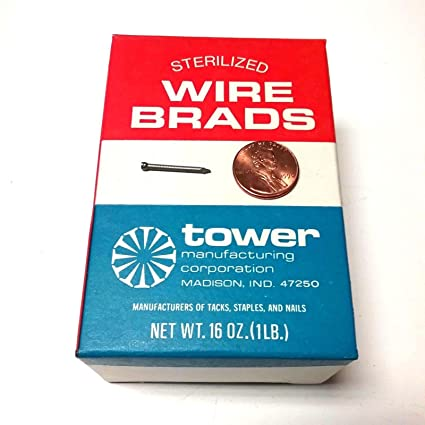 Wire Manufacturers In Usa | 1 Lb Box Of 3 4 16 Ga Sterilized Wire Brads Tower Manufacturing