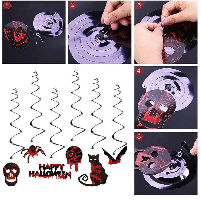 Halloween Dekoration Hängende Ausgeschnittene Wirbel für ...