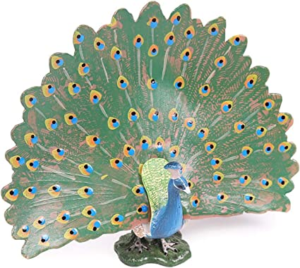 Bird Toy Figurine Models Kids Educational Learning Peacock