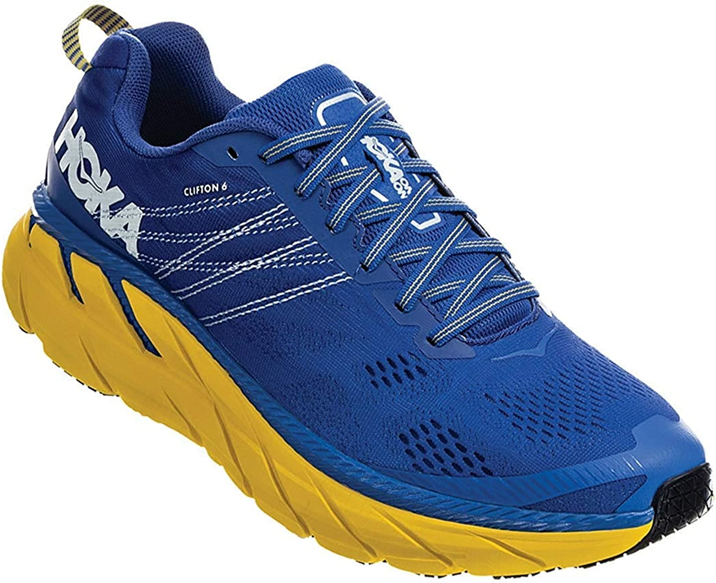 HOKA ONE ONE Mens Clifton 6 Nebulas Blue Lemon Running Shoe – 9