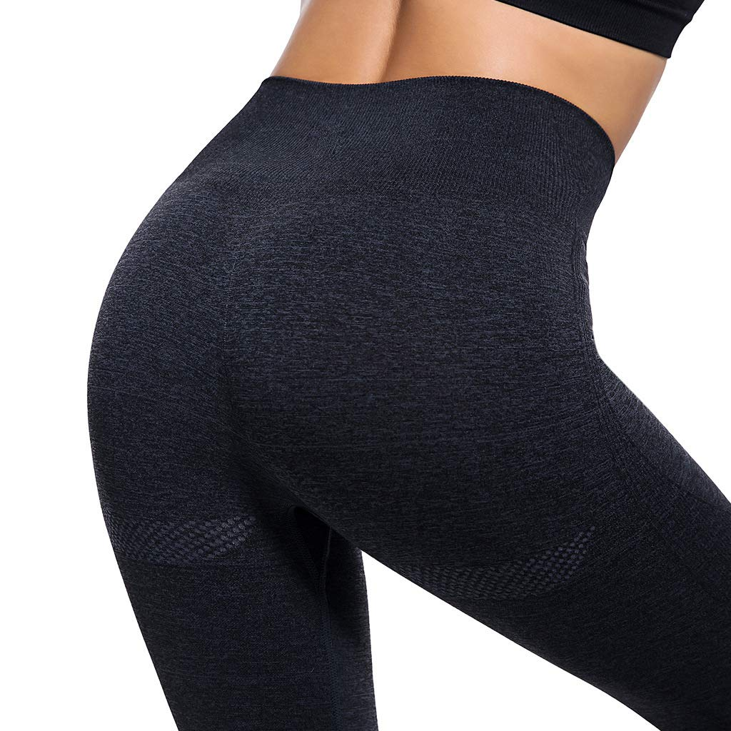 BycRad Womens Flex Ombre Slimming Leggings Yoga Pants Compression Tights Black S