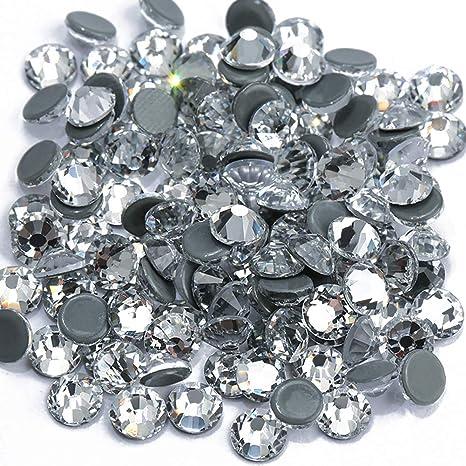 500 x 5mm GRADE A Stick on Flat Back CLEAR DIAMANTE  Crystal Gems Rhinestones
