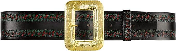 Premium Deluxe Black Santa Belt by Forum NEW