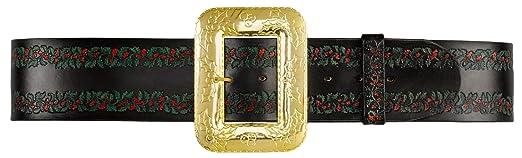 deluxe embossed leather santa claus belt - Santa Claus Belt