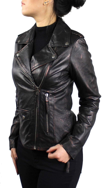 Lederjacke Connie Damen Jacke aus echt Lamm Leder in