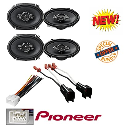 amazon com 4 x pioneer 5 x 7 6 x 8 4 way coaxial speakers ford Wire Harness Tape
