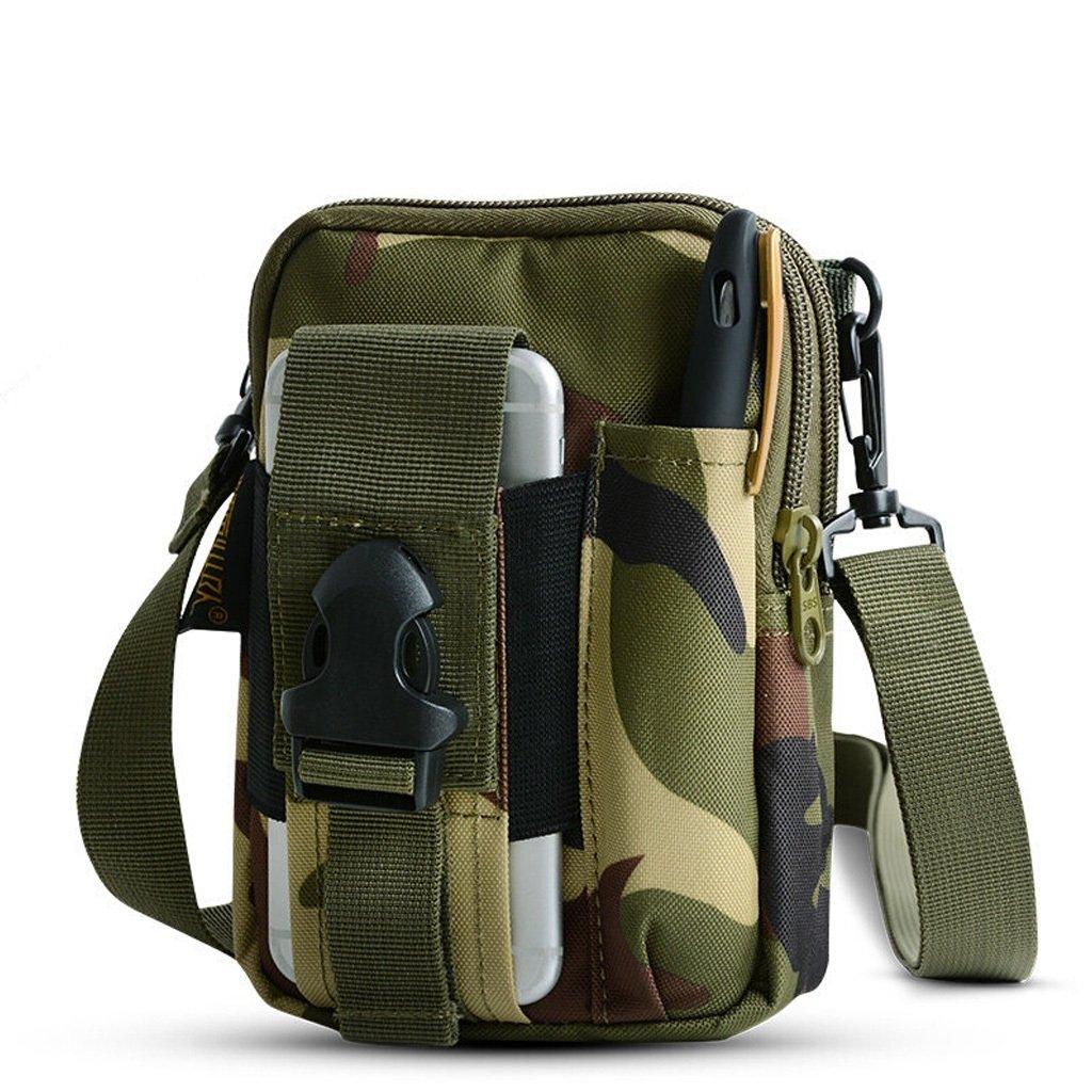 JU FU 携帯電話ポケット メンズ ワンショルダー スモールバックパック カンウェア ベルトバッグ 多機能タクティカルポケット 7色オプション  2 B07JKB9SZH