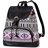 Vbiger Canvas Backpack for Women & Girls Casual Daypack Book Bag Day Backpacks
