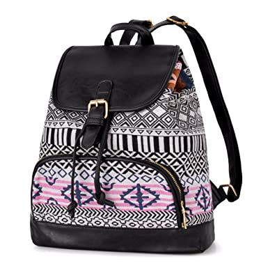 Amazon Com Vbiger Stylish Canvas Backpack Casual Bag Drawstring