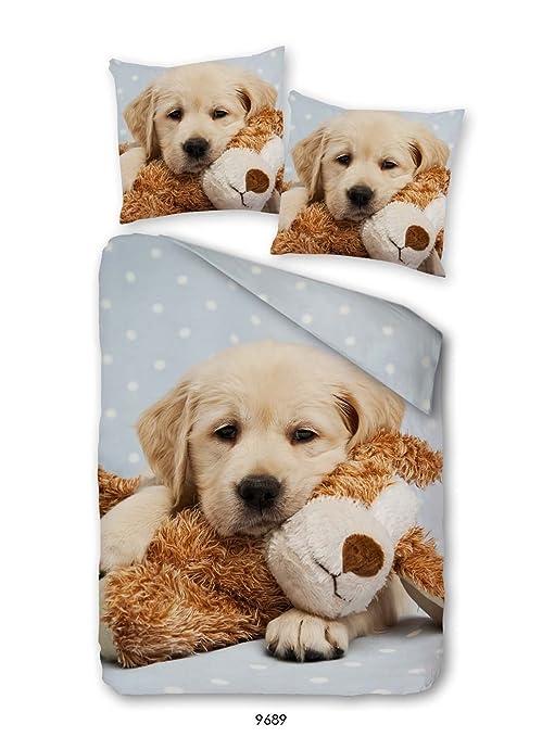 Perro Cachorro Ropa de Cama satén mako en impresión Digital de Golden Retriever Teddy 160 x
