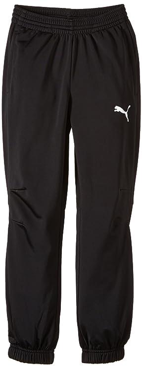 Puma Tricot Pant Pantalones, Niños, Black/White, 176