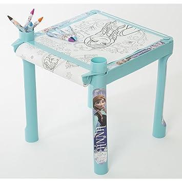 Frozen Anna Elsa Table De Coloriage 5 M Rouleau Papier Crayons