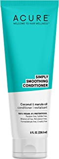 product image for Acure ACURE Simply Smoothing Conditioner - & Marula Oil | 100% Vegan | Performance Driven Hair Care | Smooths & Reduces Frizz | White/Blue, Coconut Water, 8 Fl.Oz