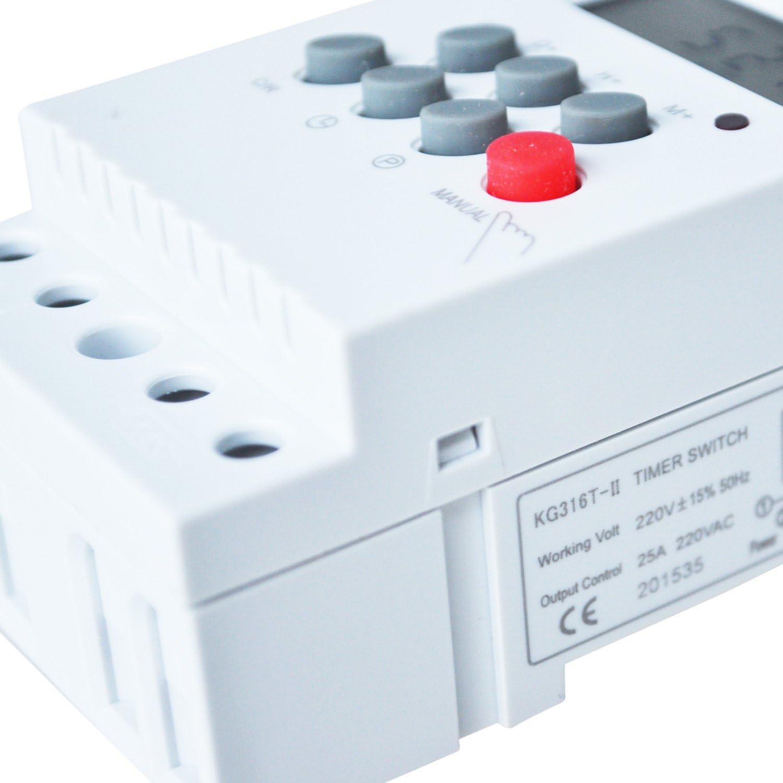 Sodial Minuterie /électronique programmable 220/V CA 25/A R