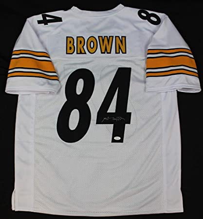 2f167d670 Antonio Brown Autographed Signed Pittsburgh Steelers White Jersey  Memorabilia - JSA Authentic