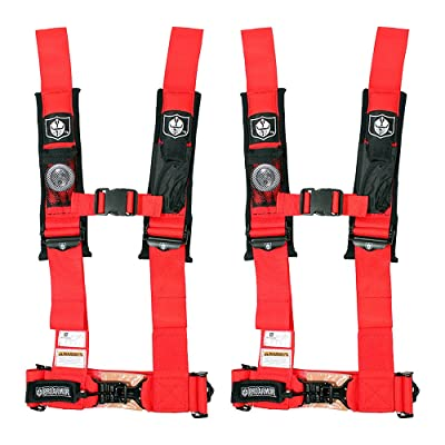 """Pro Armor A114230RD Red 4-Point Harness 3"""" Straps, 2 Pack: Automotive"""