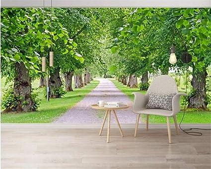 BZDHWWH Custom Wallpaper Fresh Natural Scenery Greenery Hd Green Shade 3D Mural Tv Background Wall