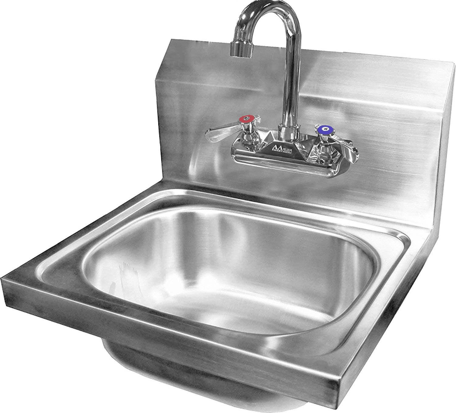 "DuraSteel Stainless Steel Hand Sink with 17""W x 20""L x 15""H Sink Dimension 